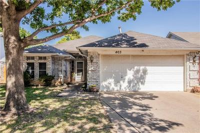 Euless Single Family Home Active Option Contract: 403 Nita Lane