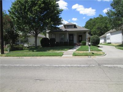 Denton Single Family Home Active Option Contract: 705 Roberts Street