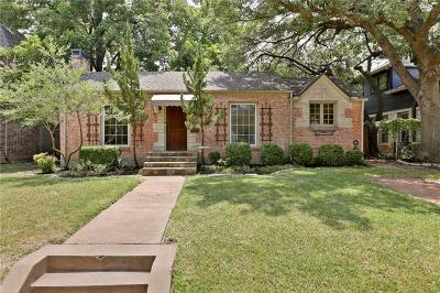 Dallas Single Family Home For Sale: 6108 Penrose Avenue