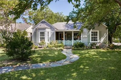 Dallas Single Family Home Active Option Contract: 5127 W Amherst Avenue
