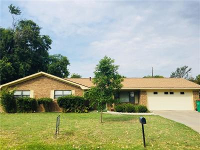 Stephenville TX Single Family Home Active Option Contract: $172,500