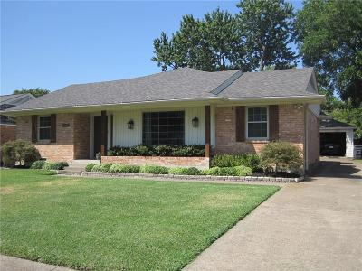 Dallas County Single Family Home Active Option Contract: 7107 Bucknell Drive