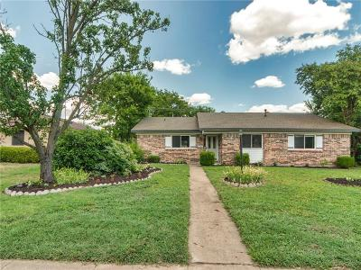 Plano Single Family Home Active Option Contract: 1524 Janice Drive