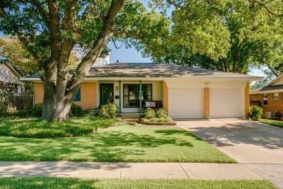 Richardson Single Family Home Active Option Contract: 1321 Northlake Drive