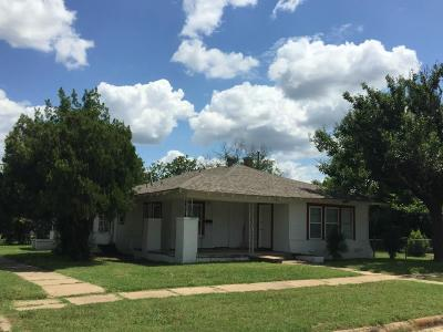 Cisco TX Single Family Home For Sale: $50,000