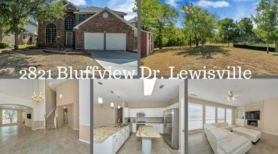 Lewisville Single Family Home For Sale: 2821 Bluffview Drive