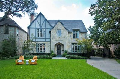 Dallas County Single Family Home For Sale: 7606 Bryn Mawr Drive