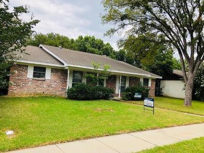 Garland Single Family Home Active Option Contract: 3813 Cedar Creek Drive