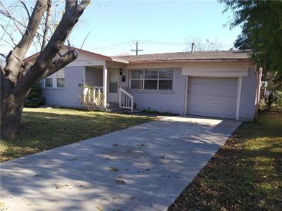 Mesquite Single Family Home Active Option Contract: 1628 Hillcrest Street