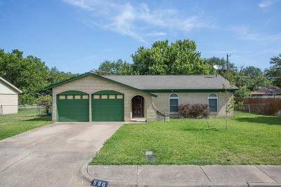 Grand Prairie Single Family Home Active Option Contract: 506 San Carlos Drive