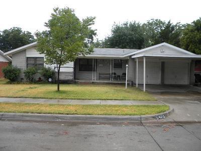 Haltom City Single Family Home Active Option Contract: 5400 Bonnie Wayne Street