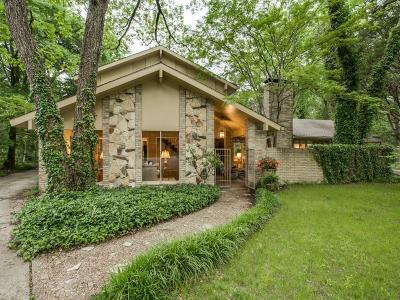 Dallas Single Family Home For Sale: 9048 Mercer Place
