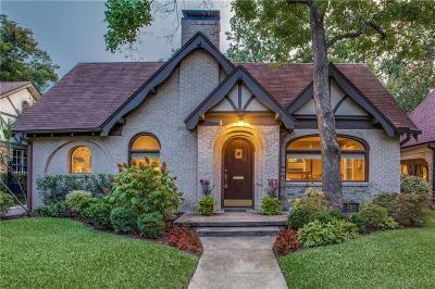 Dallas Single Family Home For Sale: 5314 Mercedes Avenue
