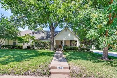 Fort Worth Single Family Home For Sale: 4100 Bunting Avenue