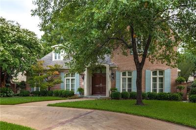 Highland Park, University Park Single Family Home For Sale: 3816 Villanova Street