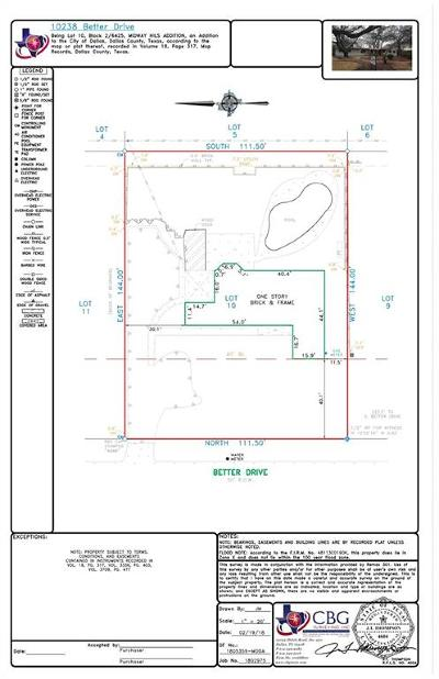 Dallas Residential Lots & Land For Sale: 10238 Better Drive