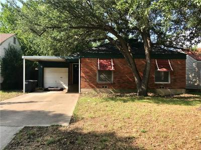 Fort Worth TX Single Family Home For Sale: $158,500