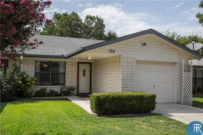 Brownwood Single Family Home For Sale: 134 Rose Lane
