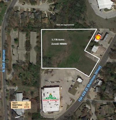 Denton Commercial Lots & Land For Sale: 707 E Sherman Drive