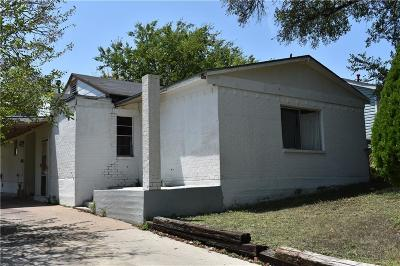 Fort Worth TX Single Family Home For Sale: $107,500