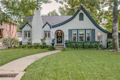 Dallas Single Family Home For Sale: 5330 Mercedes Avenue