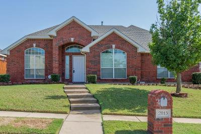Sachse Single Family Home Active Option Contract: 2815 Pennington Drive