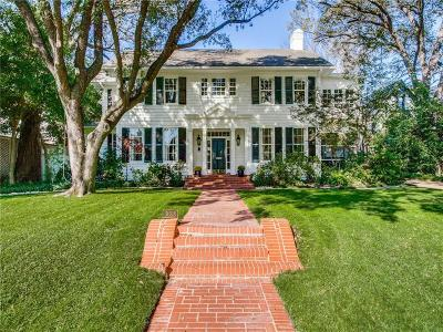 Highland Park Single Family Home For Sale: 3608 Drexel Drive