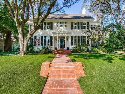 Highland Park, University Park Single Family Home For Sale: 3608 Drexel Drive