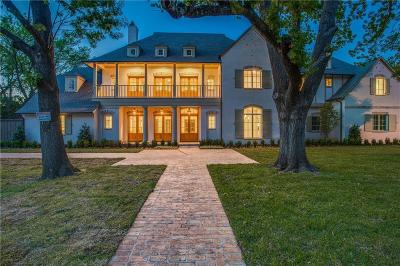 Dallas Single Family Home For Sale: 5923 Lupton Drive