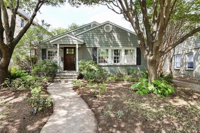 Dallas Single Family Home For Sale: 5523 Martel Avenue