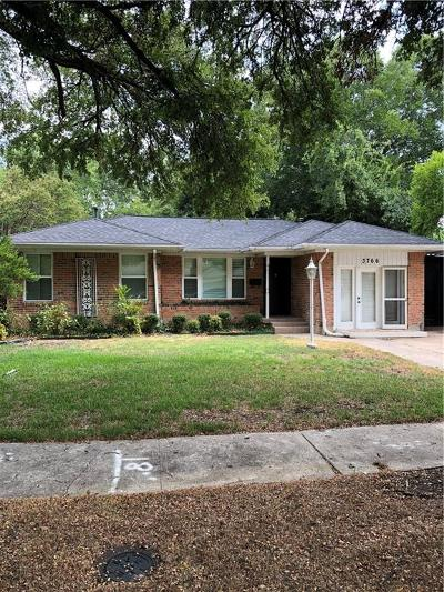 Dallas Single Family Home For Sale: 3766 Manana Drive