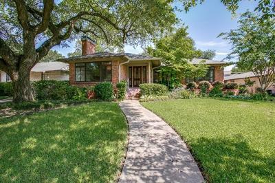 Dallas Single Family Home For Sale: 6815 Cornelia