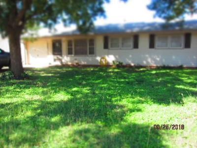 Abilene Single Family Home For Sale: 4534 Clover Lane