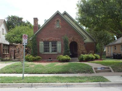 Fort Worth Single Family Home For Sale: 3241 Cockrell Avenue