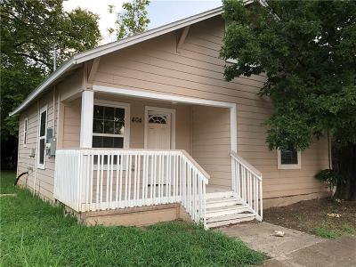 Single Family Home For Sale: 404 Short Street