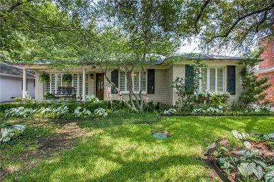 Dallas Single Family Home For Sale: 7419 Villanova Street