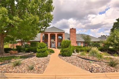 Abilene Single Family Home For Sale: 11 Winged Foot Circle E