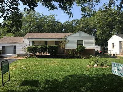 Dallas Single Family Home For Sale: 1907 Barlow Avenue