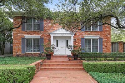 University Park Single Family Home For Sale: 4029 Greenbrier Drive