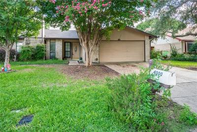 Single Family Home For Sale: 4000 Longstraw Drive