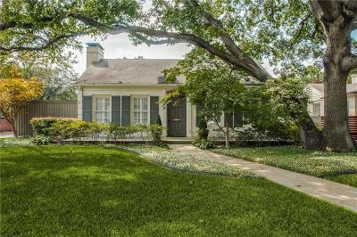 Highland Park, University Park Single Family Home For Sale: 4601 N Versailles Avenue
