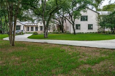 Dallas Single Family Home For Sale: 9807 Inwood Road
