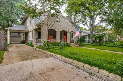Dallas County Single Family Home For Sale: 1119 N Winnetka