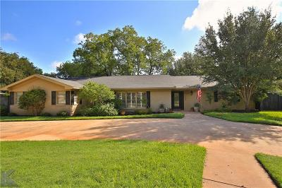 Abilene Single Family Home For Sale: 1517 Woodridge Drive