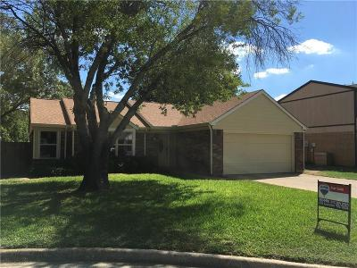 Grapevine Single Family Home Active Option Contract: 1805 Harvest Moon Drive