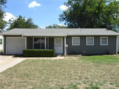 Euless Single Family Home Active Option Contract: 1014 Harris Drive