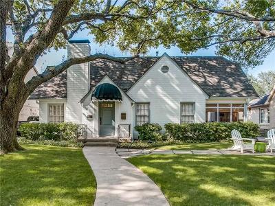 University Park Single Family Home For Sale: 4312 Hanover Street