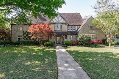 Highland Park Single Family Home For Sale: 4411 Belfort Avenue