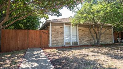 Dallas Half Duplex For Sale: 12609 Hornbeam Drive