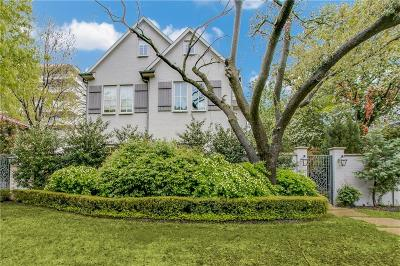 Highland Park Single Family Home For Sale: 4527 Fairway Avenue